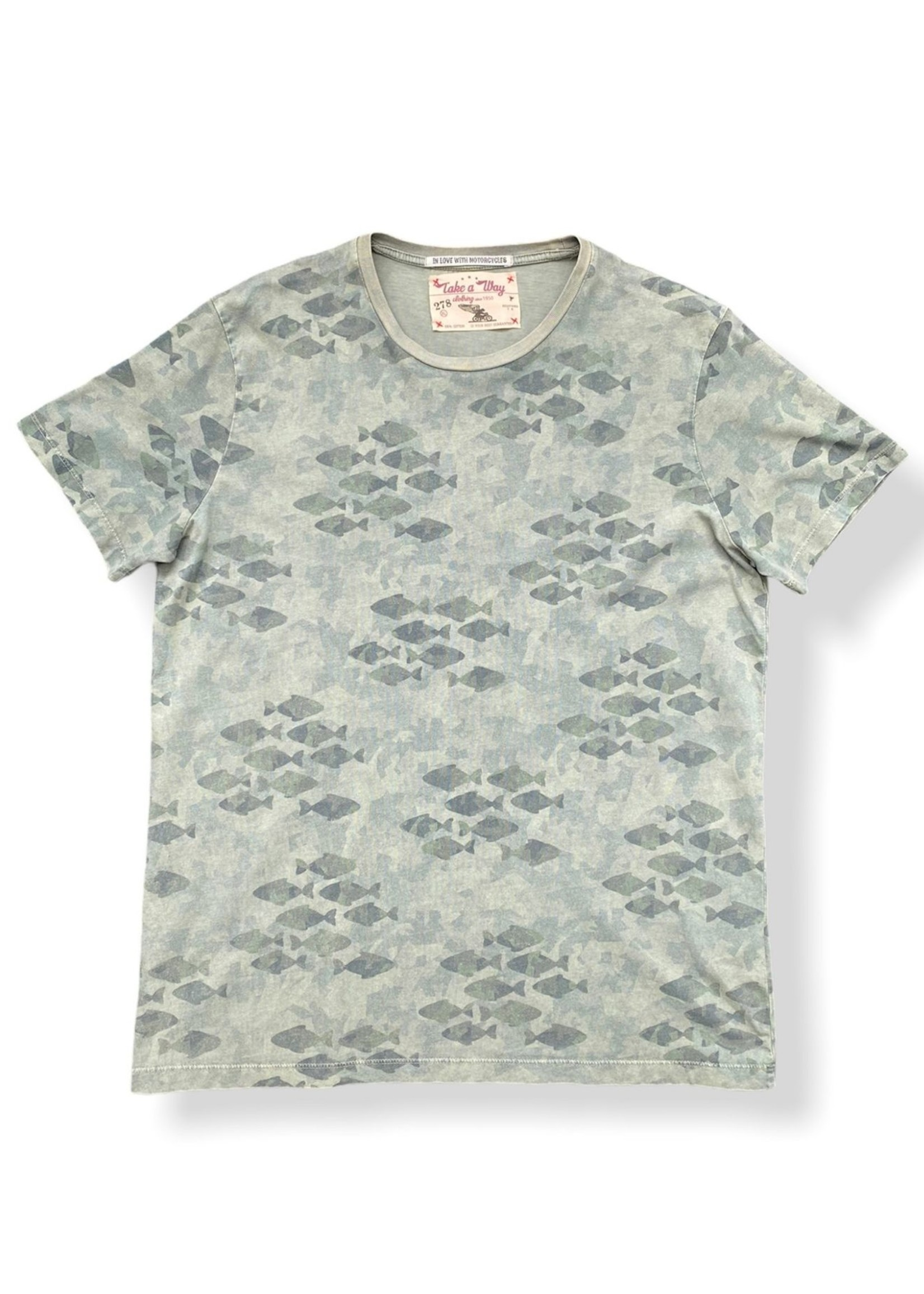 Take A Way T-Shirt Military Fishes | Vert Militaire | Take a Way