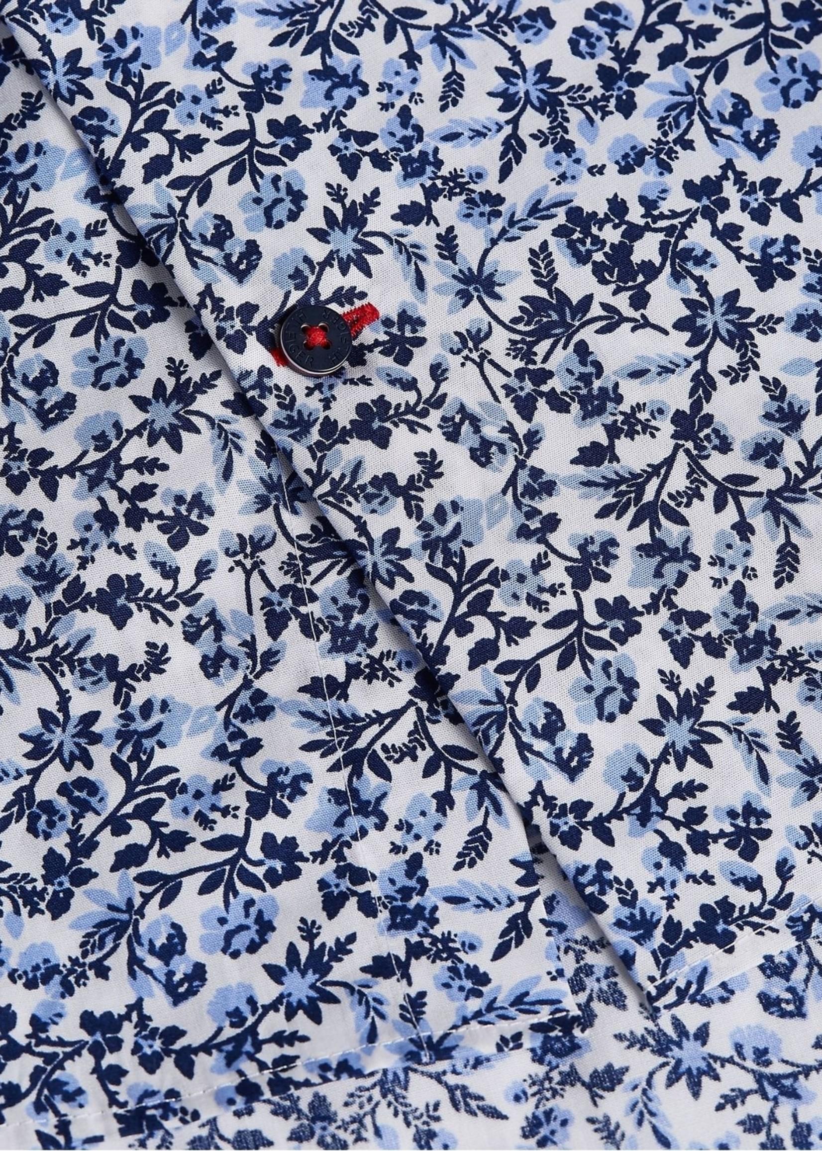 Tommy Hilfiger Large Floral Print Slim Shirt | Lichtblauw/Wit/Navy | Tommy Hilfiger