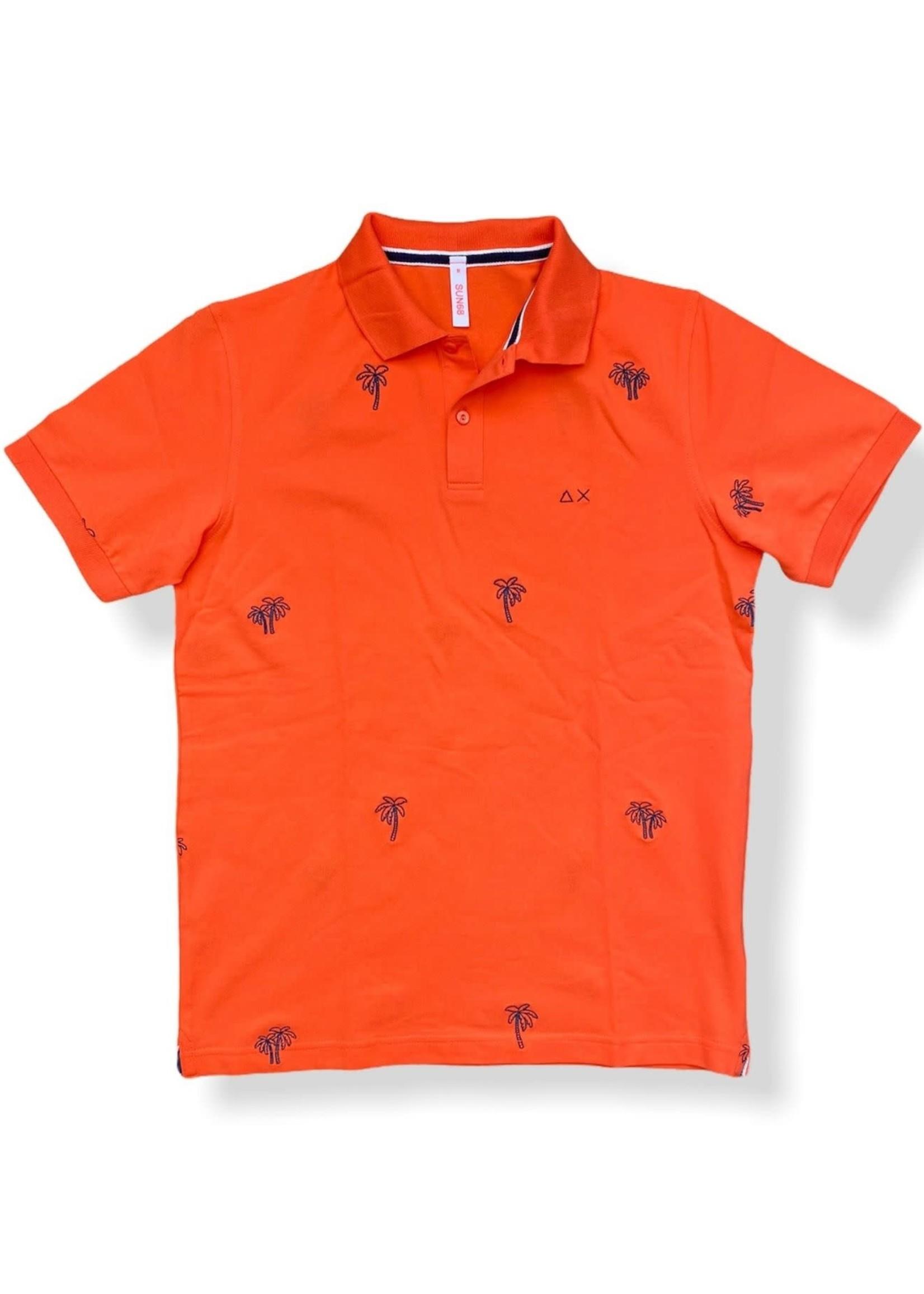 SUN68 Polo Full Embrodery EL. | Oranje | SUN68