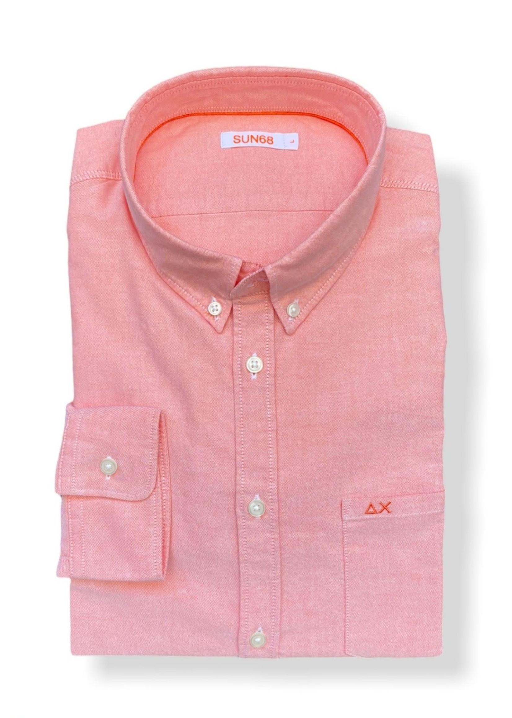 SUN68 Shirt Oxford | Orange | SUN68