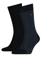Tommy Hilfiger Lot de 2 paires de chaussettes à rayures