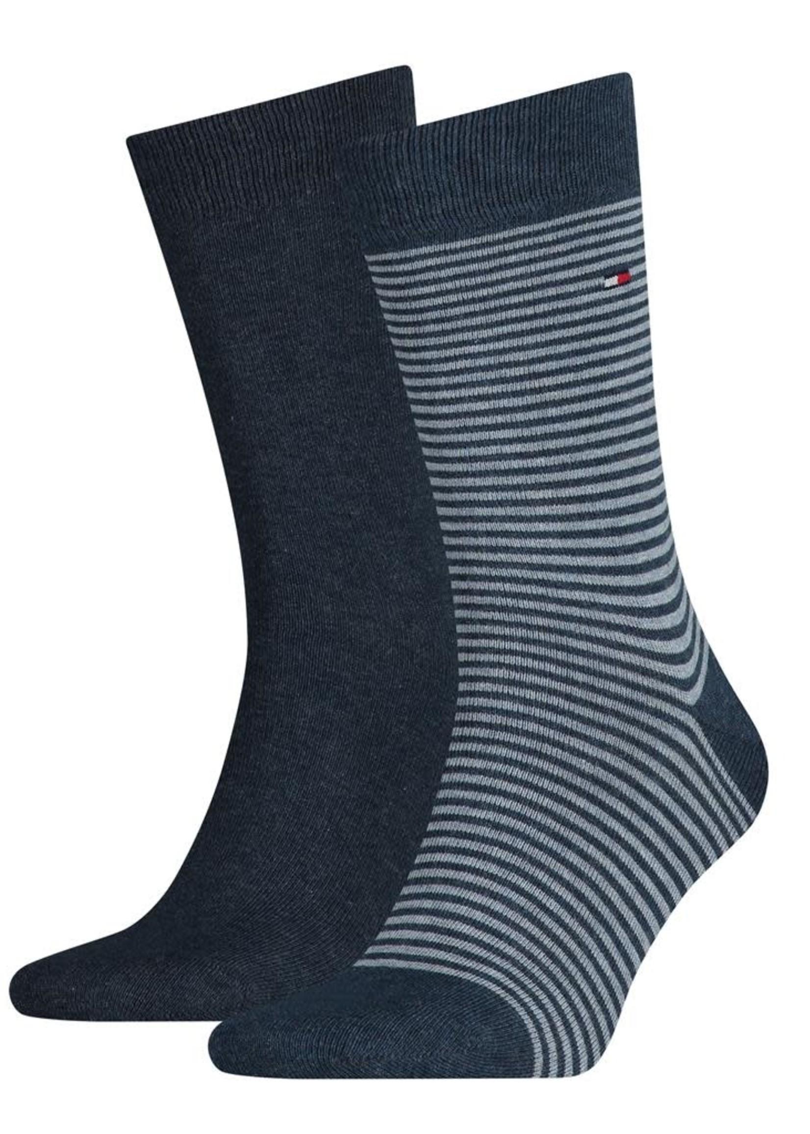Tommy Hilfiger Lot de 2 paires de chaussettes à rayures | Jeans | Tommy Hilfiger