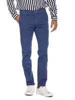 Mason's Pantalon en satin stretch et détails fluo coupe slim Torino Ocean