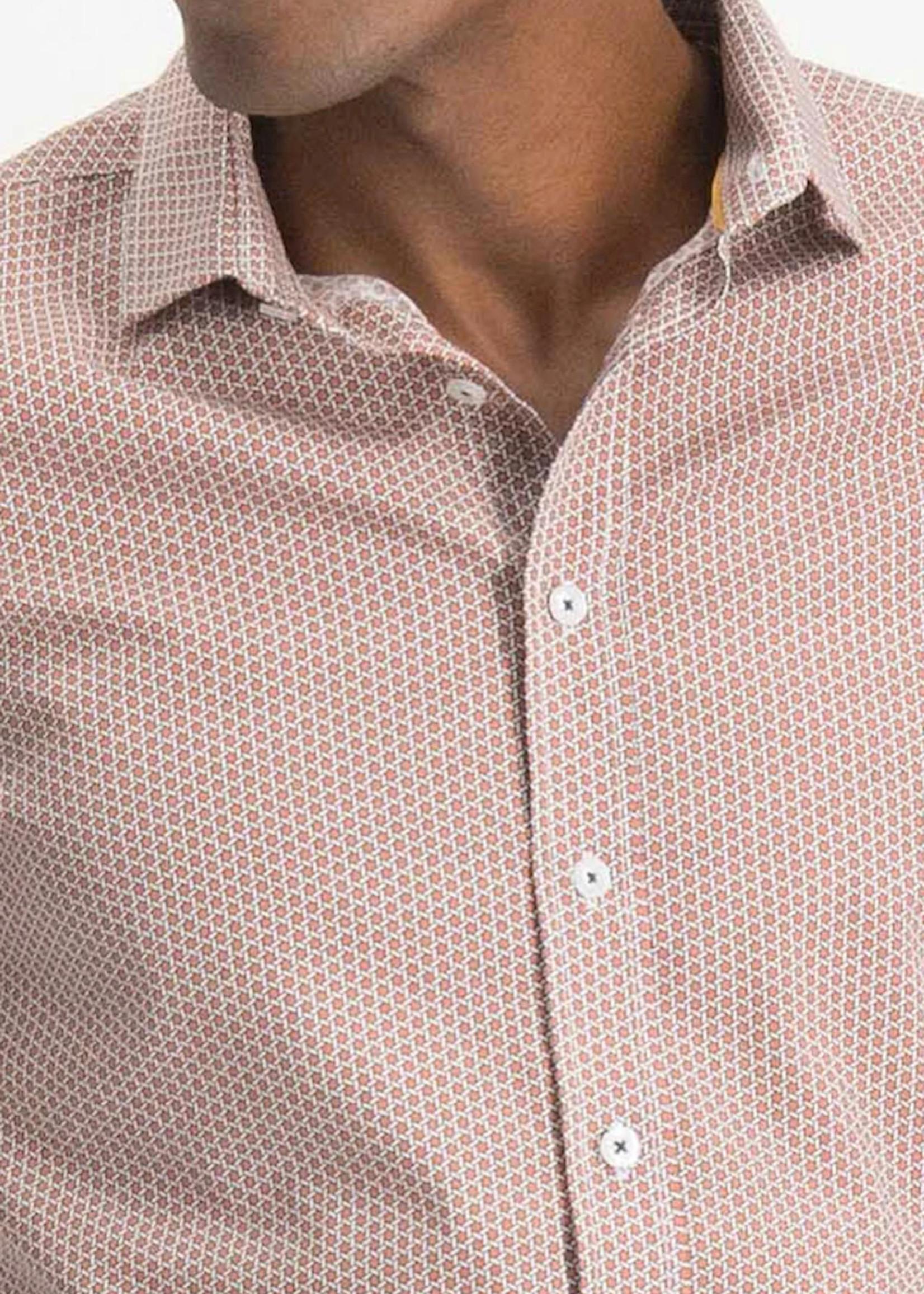 Italian Fit Rotan Design Print Stretch Shirt | Haze & Finn