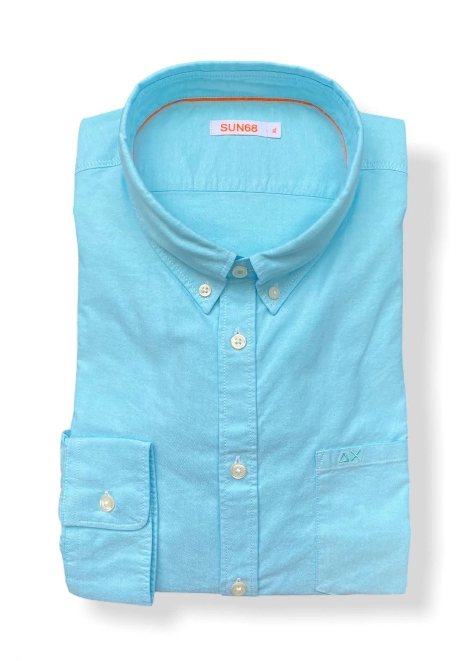 SUN68 Shirt Oxford | Turquoise | SUN68