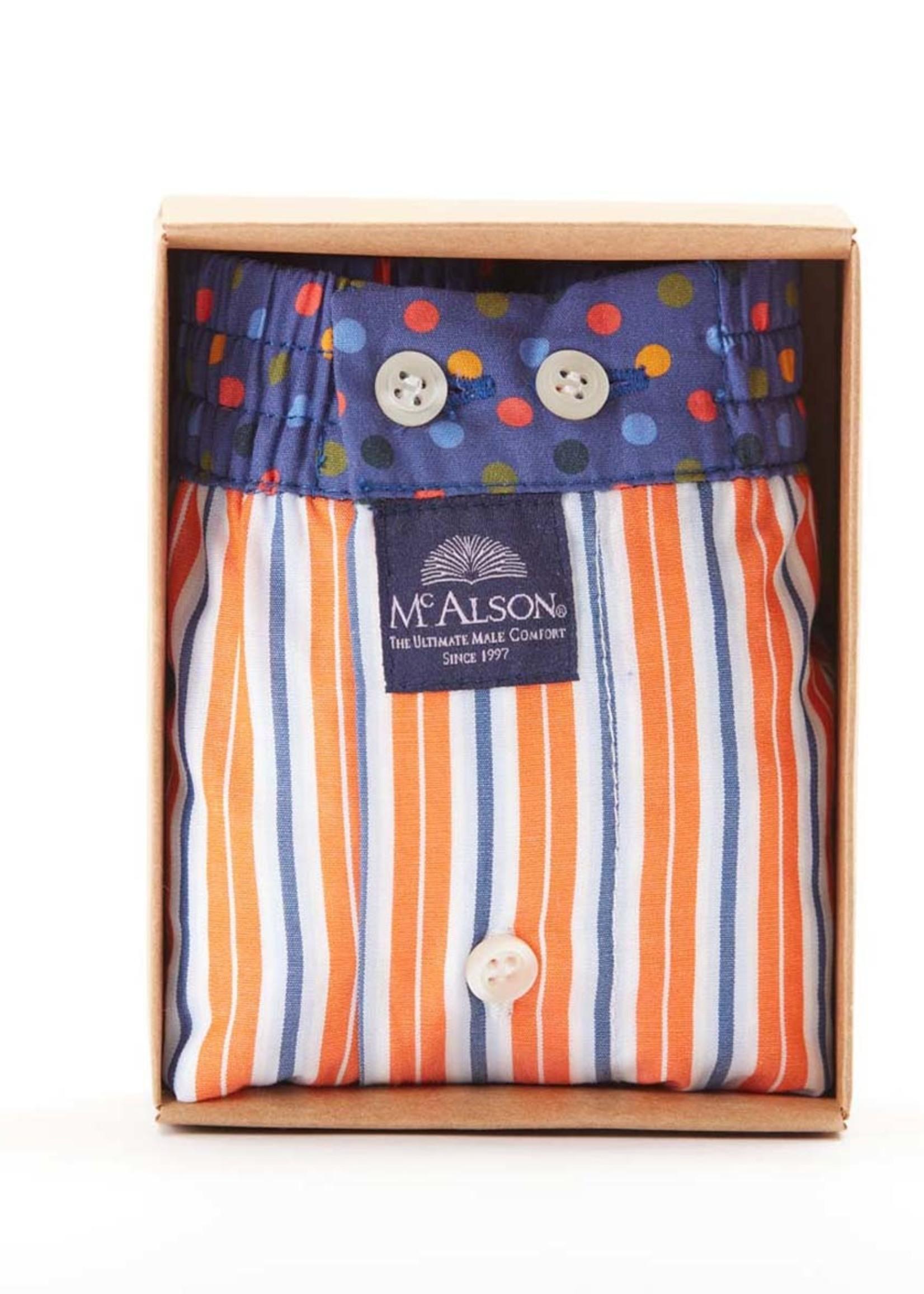 Mc Alson M4418 - Striped orange & blue