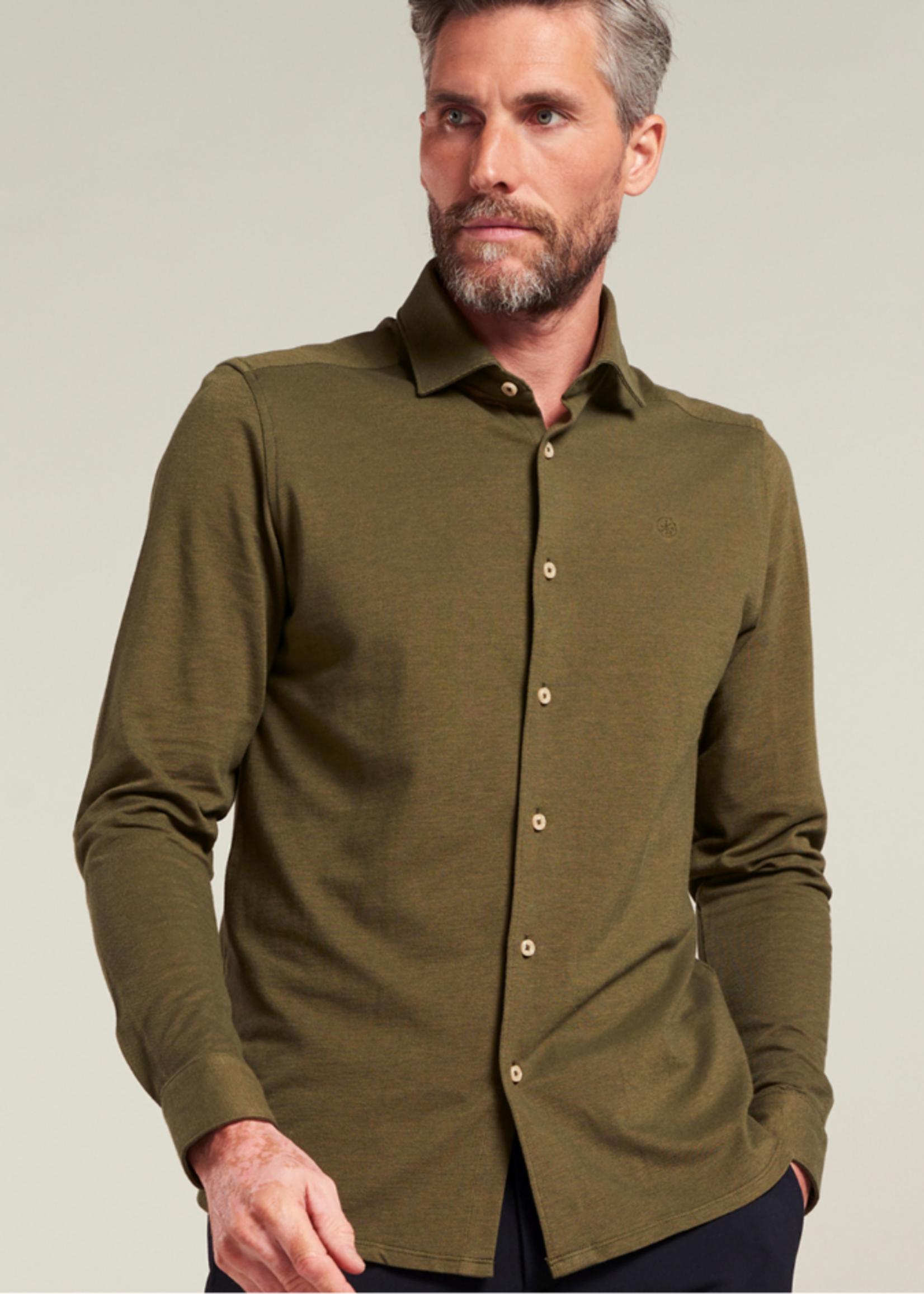 Dstrezzed Pique shirt with cut away collar