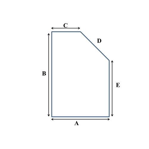 Matratze nach Mass Matratze mit einem schrägen Eckabschnitt Kaltschaum RG40