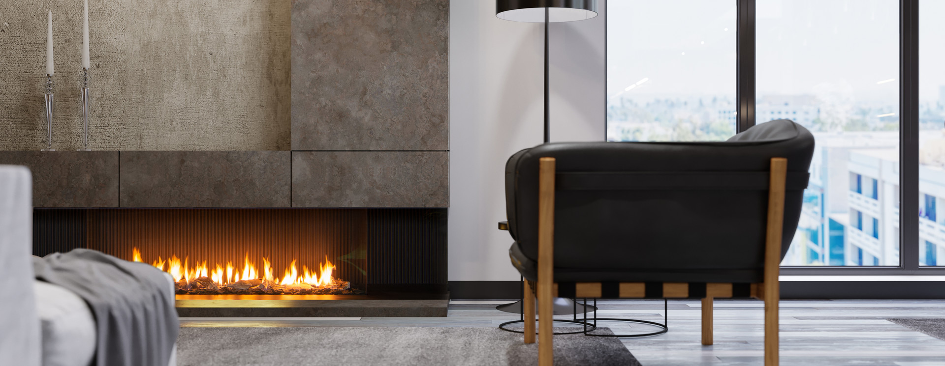 Closed gas fires