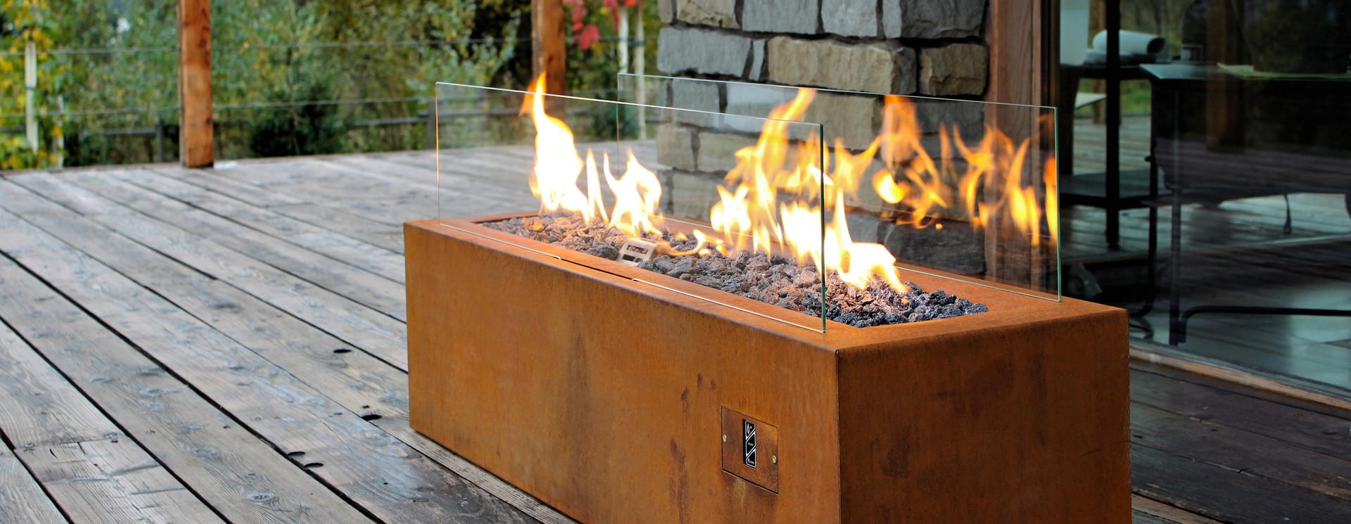 Open gas fires