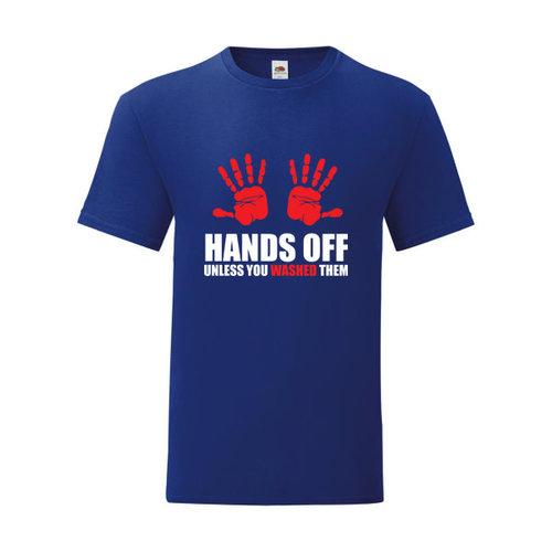 P.A.C. Funding Actie T-shirt Hands Off :  Cobalt