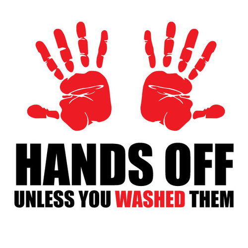 P.A.C. Funding Actie T-shirt Hands Off :  Zwart