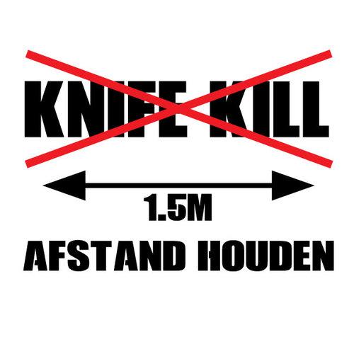 P.A.C. Funding Actie T-shirt Knife Kill :  Zwart