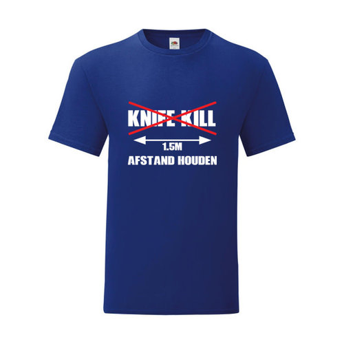 P.A.C. Funding Actie T-shirt Knife Kill :  Navy