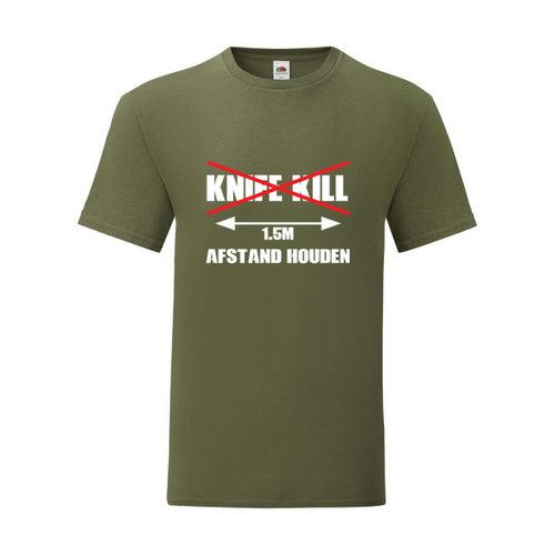 P.A.C. Funding Actie T-shirt Knife Kill :  Olive Drap