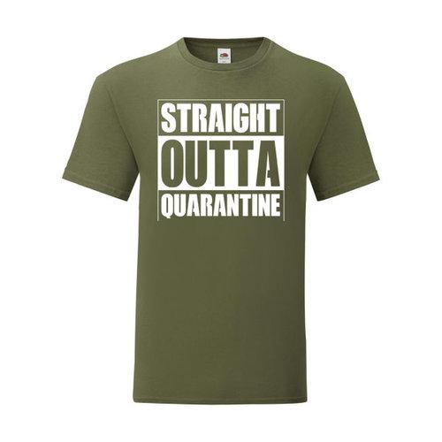 P.A.C. Funding Actie T-shirt Quarantine :  Olive Drap