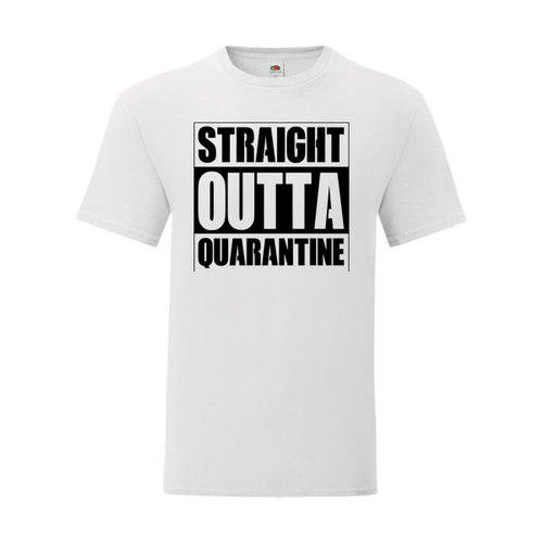 P.A.C. Funding Actie T-shirt Quarantine :  Wit