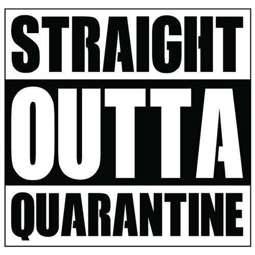 P.A.C. Funding Actie T-shirt Quarantine :  Zwart