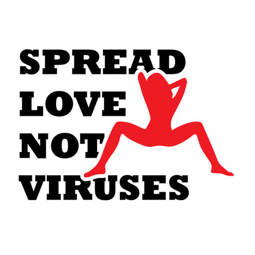 P.A.C. Funding Actie T-shirt Spread Love :  Cobalt