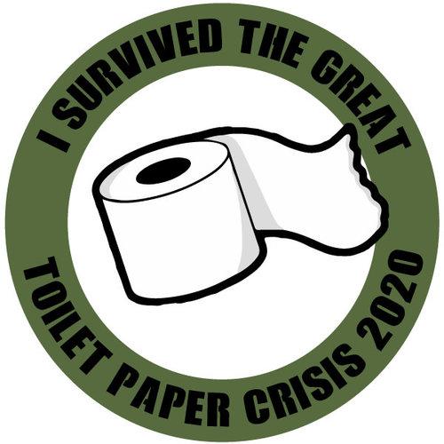 P.A.C. Funding Actie T-shirt Toilet Paper :  Cobalt