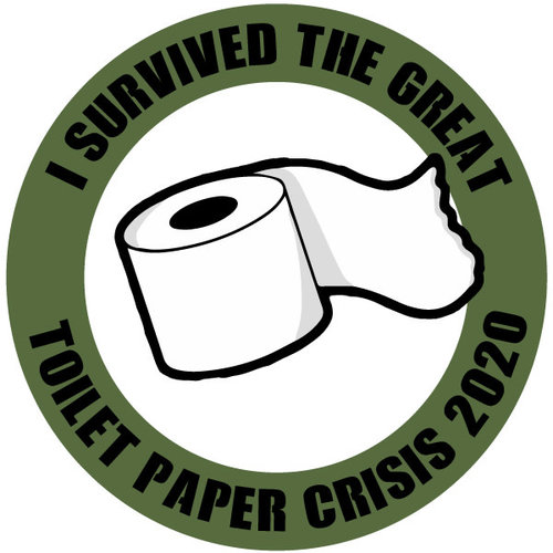 P.A.C. Funding Actie T-shirt Toilet Paper :  Wit