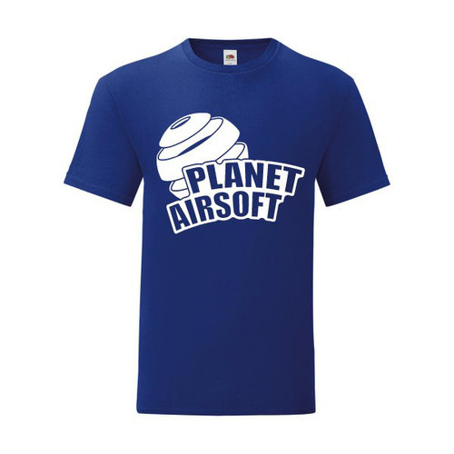 P.A.C. Funding Actie T-shirt Planet Airsoft :  Cobalt