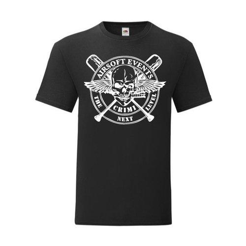 P.A.C. Funding Actie T-shirt Crimi Events :  Zwart