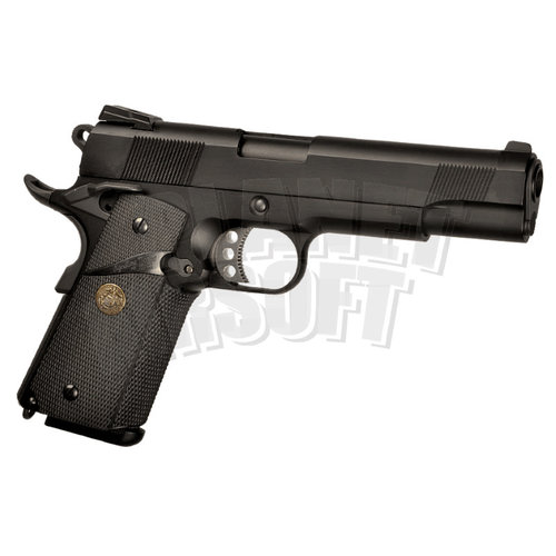 WE WE M1911 MEU Full Metal GBB : Zwart