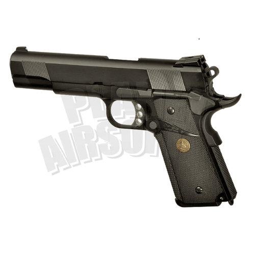 WE WE M1911 MEU Full Metal GBB : Zwart