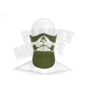 Invader Gear Invader Gear Death Head Neoprene Half Face Protector : Olive Drap