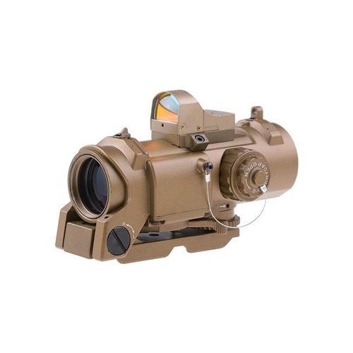 Theta Optics Theta Optics 4x32E Scope with Micro Red Dot Sight FDE