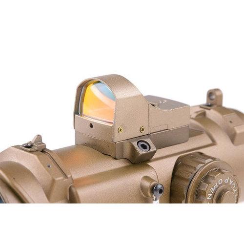 Theta Optics 4x32E Scope with Micro Red Dot Sight FDE
