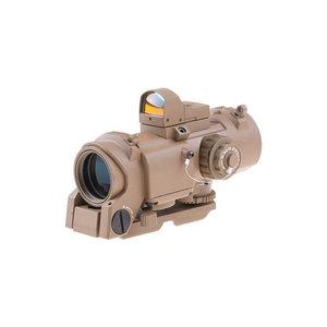 Theta Optics 4x32E Scope with Micro Red Dot Sight