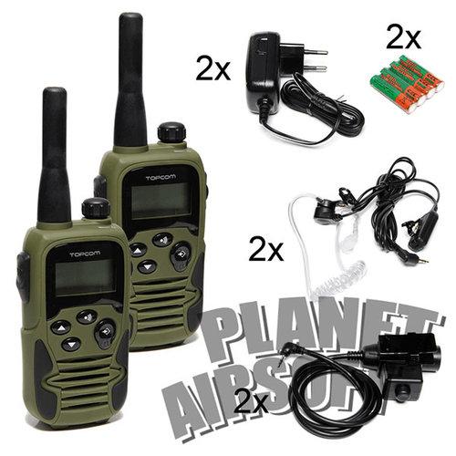 Topcom Topcom Dual SET + 2x Z-Tactical PTT Z113