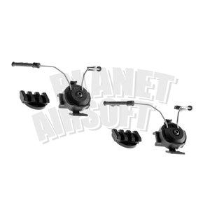 Z-Tactical Comtac Helmet Rail Adapter Set : Zwart
