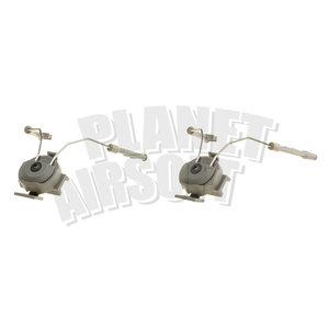 Z-Tactical Comtac Helmet Rail Adapter Set : Olive Drap