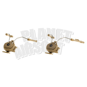 Z-Tactical Comtac Helmet Rail Adapter Set : Desert
