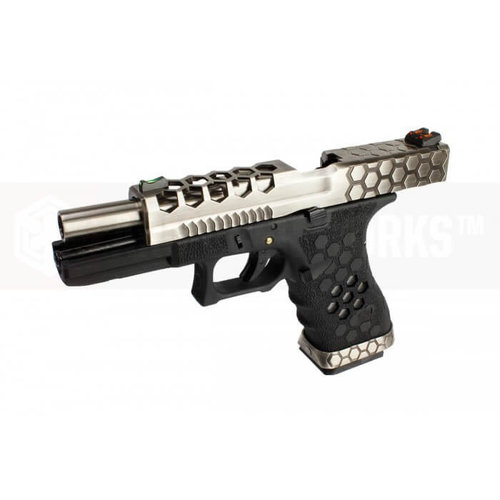 Armorer Works Custom Hex-Cut Black/Silver VX0100 Pistol