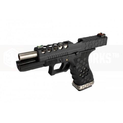 Armorer Works Armorer Works Custom Hex-Cut Black/Black VX0101 Pistol