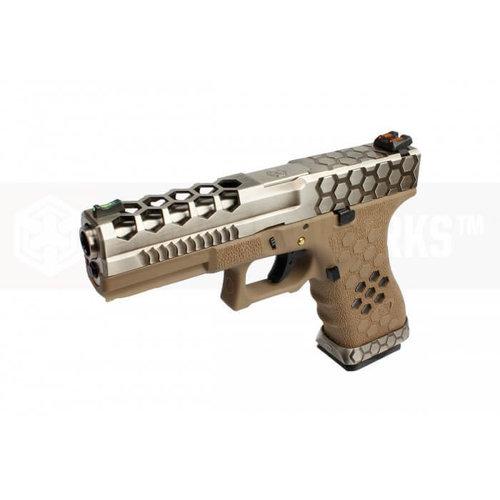 Armorer Works Armorer Works Custom Hex-Cut Desert/Silver VX0110 Pistol