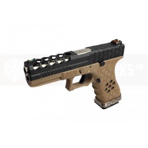 Armorer Works Custom Hex-Cut Desert/Black VX0111 Pistol