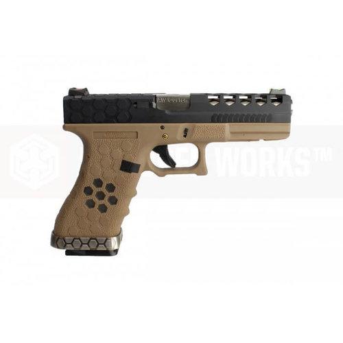 Armorer Works Armorer Works Custom Hex-Cut Desert/Black VX0111 Pistol