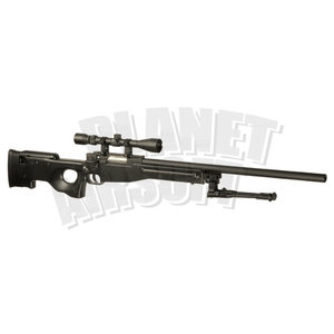 WELL Well L96 Sniper Rifle Set Upgraded : Zwart