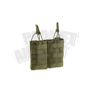 Invader Gear 5.56 Double Direct Action Mag Pouch : Olive Drap