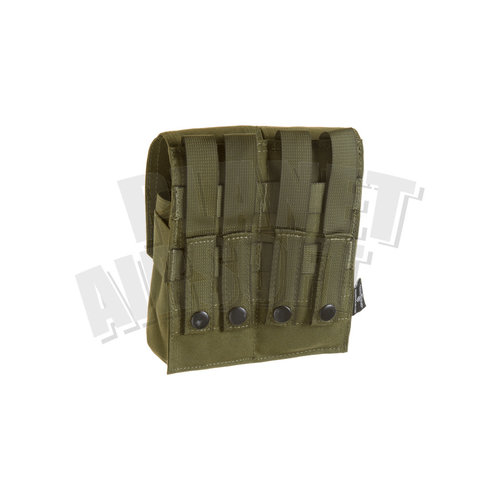 Invader Gear Invader Gear 5.56 2x Double Mag Pouch : Olive Drap
