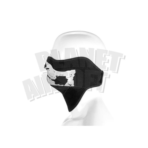 Invader Gear Invader Gear Death Head Neoprene Half Face Protector : Zwart