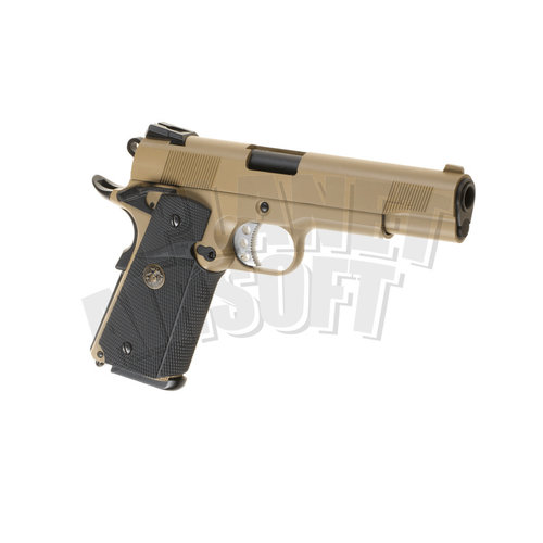 WE WE M1911 MEU Full Metal GBB : Desert