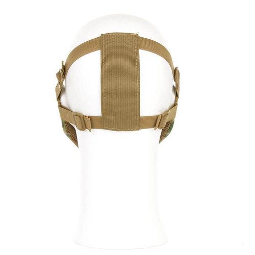 Invader Gear Mk.II Steel Half Face Mask : Zwart