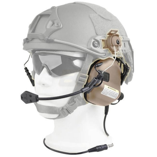 Earmor Earmor M32H MOD1 Tactical Hearing Protection Helmet Version Ear-Muff : Grijs
