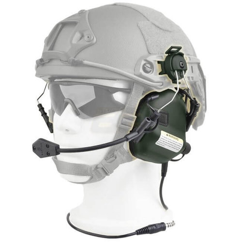 Earmor Earmor M32H MOD1 Tactical Hearing Protection Helmet Version Ear-Muff : Olive Drap